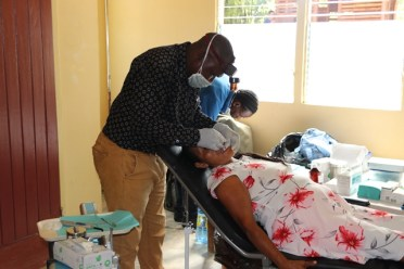 A resident accesses dental services