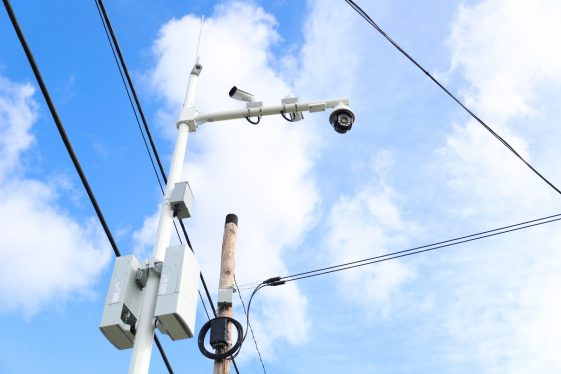 One of the installed Intelligent Surveillance System