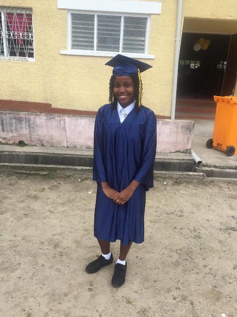 Top Mackenzie High School student, Tonecia Jacobis.