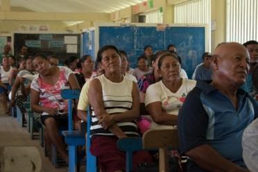 Residents at the meeting in Karasabai.