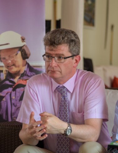 British High Commissioner to Guyana, His Excellency, Greg Quinn.