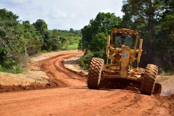 Grader on the Wanaina to Wauna Phase 2 Project