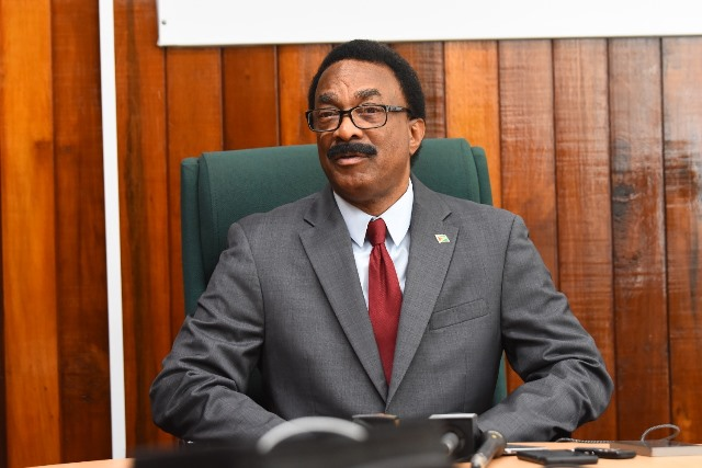 - Attorney General and Minister of Legal Affairs, Basil Williams speaking to the media.