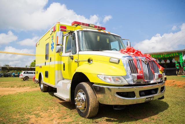 The ambulance commissioned at Port Kaituma
