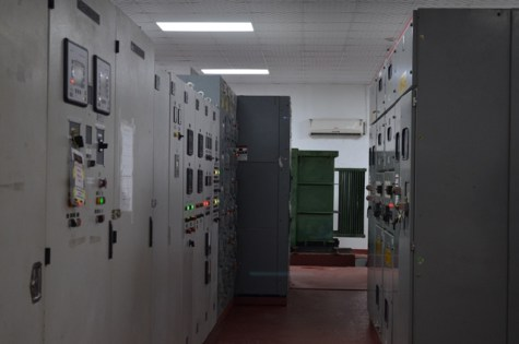 Interior of Giftland Mall's power plant.