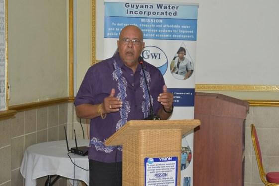 Dr. Richard Van West-Charles addressing participants at the workshop