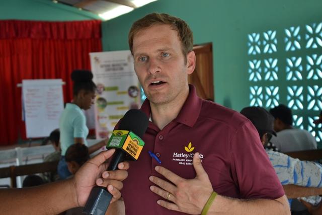 A representative of Farmer-to-Farmer Partners of the Americas, Tim Cobbs.
