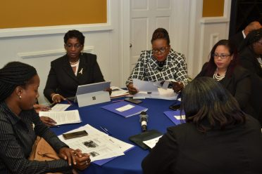Participants at the Judicial Conference on TIP this morning.