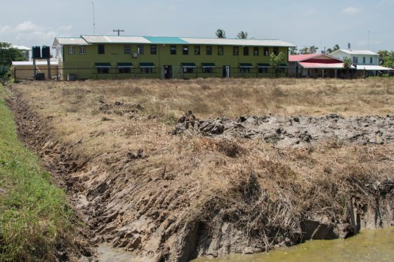 The ground at San Souci under rehabilitation.