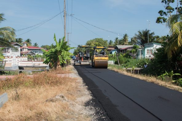 Ongoing road works in Wakenaam