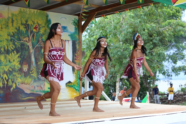 The River's View culture group performing a dance