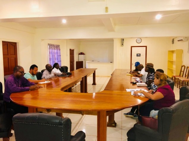Minister of Public Health, Hon. Volda Lawrence and a team of Public Health officials recently met with REO and other RDC officials.