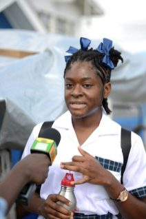 Jamima Ward, speaking with the DPI while on her way to school.