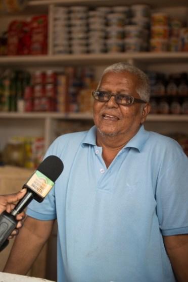 A grocery store owner, Shalim Jowaheer.