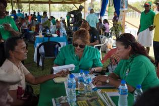 A scene from the outreach.