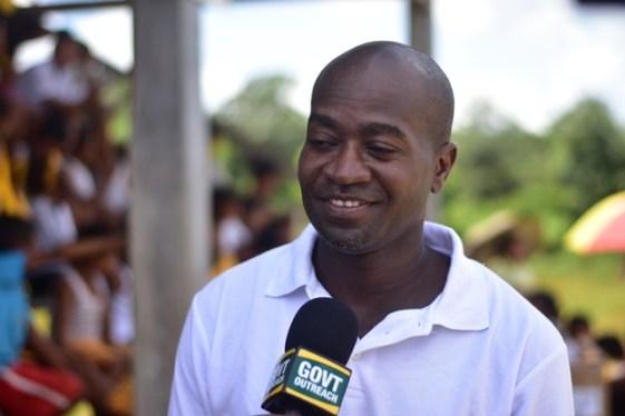 Headmaster of the Kurupukari primary school, Quado Vancooten