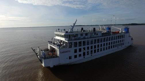 MV Sabanto on the Essequibo River.