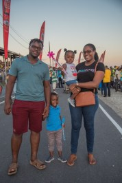 Minister of Public Service, Hon. Tabitha Sarab0-Halley and her family were among the fans at D'Urban Park.