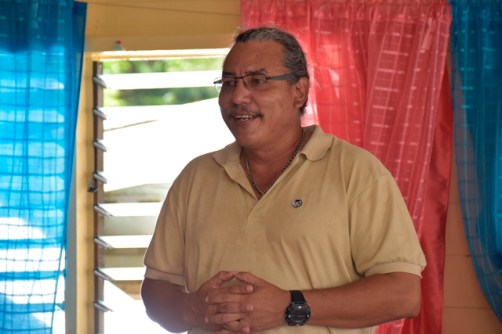 Ministerial Advisor in the Ministry of Indigenous Peoples' Affairs and Member of Parliament (MP), Hon. Mervyn Williams addressing the residents of Hobodeia.