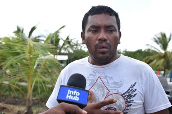 Marlon Jerome, a resident of Imbotero.
