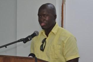 Deputy Chief Executive Officer of the Guyana Livestock Development Authority (GLDA), Dr. Dwight Walrond.