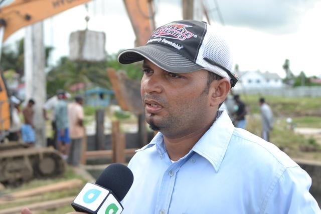 Uitvlugt Estate Field Superintendent, Ravindra Ramnarine.