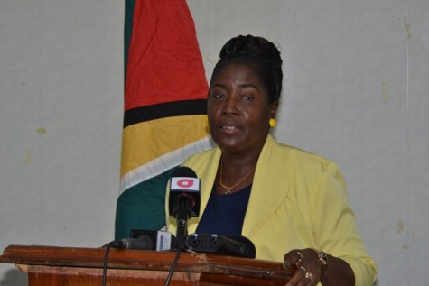 Minister within the Ministry of Agriculture, Hon. Valerie Adams-Yearwood.