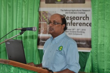 Chief Executive Officer of the National Agricultural Research and Extension Institute, Dr. Oudho Homenauth.