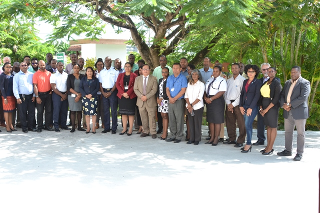 Minister of State, Hon. Dawn Hastings- Williams, CDC Director General, Lt. Col. Kester Craig along with stakeholders.