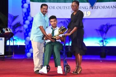 Special Awardee Davindra Bridgemohan, West Demerara Government Secondary School, 4 Grade ones, 6 Grade twos.