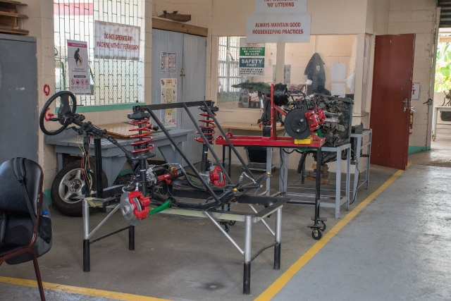 Some equipment in the workshop.