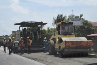 Works progressing well on the two-lane ECD road rehabilitation phase