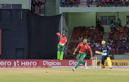 Imran Tahir celebrates after picking up the wicket of Alex Hales.