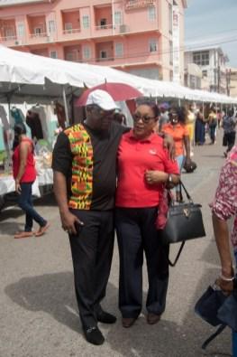 David Thomas and a friend at the 'Market Day'.