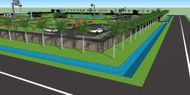 An Artist's impression of what the Regional Recreational Park at Onverwagt, West Coast Berbice will look like on completion.