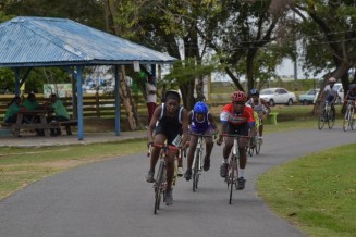 Cyclists in action at The National Park