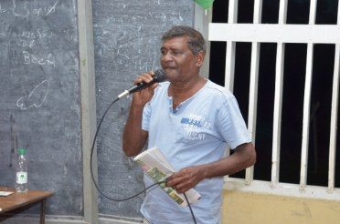 Steve Dhanbaraj, a farmer, pleads with his fellow farmers to consider market led planting practices.