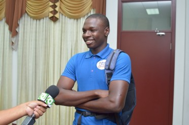 Akeem Boston, a participant.