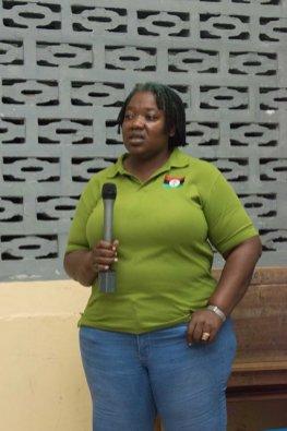 Chairperson, Profit-Rising Sun Neighbourhood Democratic Council (NDC), Angela McDonald.