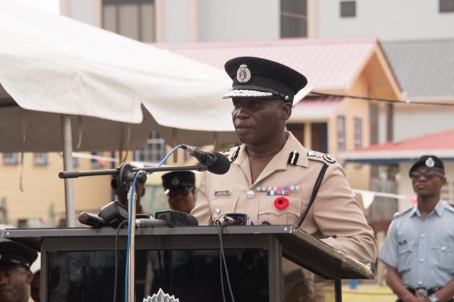 Police Commissioner Leslie James, D.S.S., D.S.M.