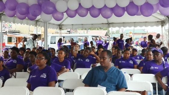 A section of the crowd in attendance at the MDA Filaria campaign launch.