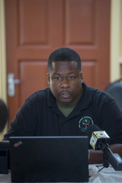 CDC Senior Response Officer, Captain Salim October.