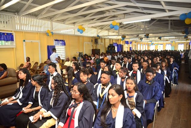 Some of the graduates of J.C Chandisingh Secondary School.
