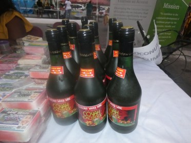 Coconut wine produced through the agro-tourism project