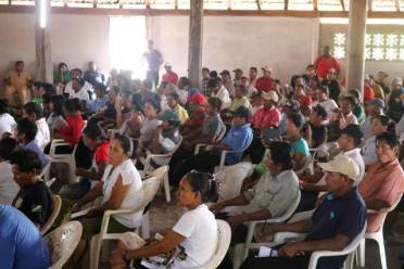 Toshaos and Councillors of the South Rupununi District Council gathered for their quarterly meeting