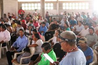 Scenes from the South Rupununi District Council gathered for their quarterly meeting