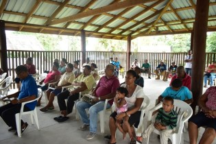 Residents of Santa Aratak during the community meeting.