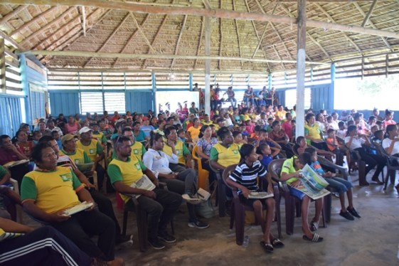 Section of residents at the governmental meeting in Orealla