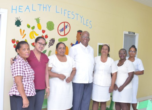 Minister Jordan and some of the nurses