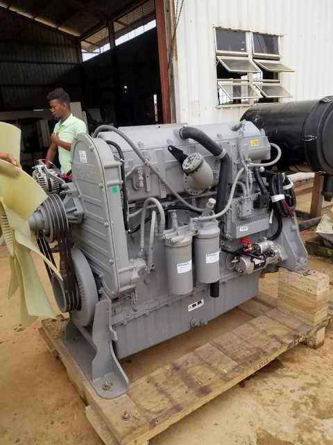 Replacement engine in front of the power station